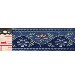 Cloak and Dagger Creations 2-Tone Blue Floral Trim