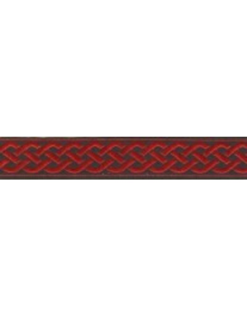 Cloak and Dagger Creations 3 Strand Celtic Braid Trim, Red on Black - Narrow