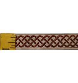 3 Strand Celtic Braid Trim, Brown on Tan - Medium