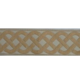 3 Strand Celtic Braid Trim, Tan on Natural - Large