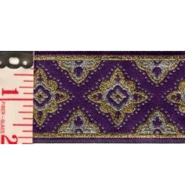Amravati Trim, Purple/Silver/Gold