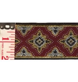 Cloak and Dagger Creations Amravati Trim, Maroon/Silver/Gold
