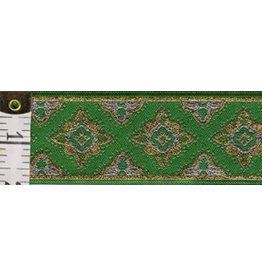 Cloak and Dagger Creations Amravati Trim, Green/Silver/Gold
