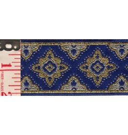 Cloak and Dagger Creations Amravati Trim, Blue/Silver/Gold