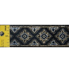 Cloak and Dagger Creations Amravati Trim, Black/Silver/Gold