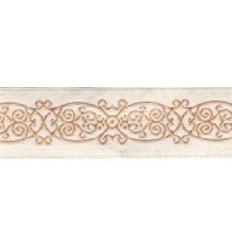 Cloak and Dagger Creations Arabescos Trim, Beige on Ivory