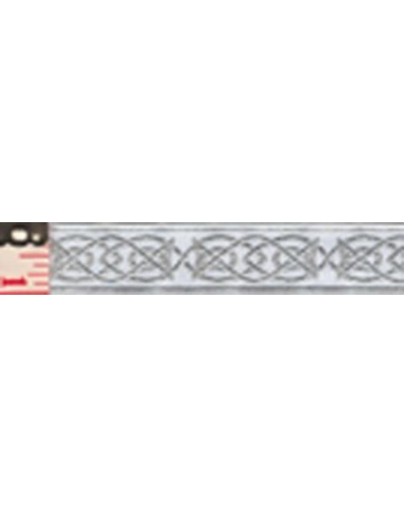 Cloak and Dagger Creations Celtic Fish Trim, Silver/White (Discontinued)