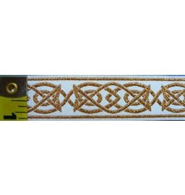 Cloak and Dagger Creations Celtic Fish Trim, Gold/White (Discontinued)
