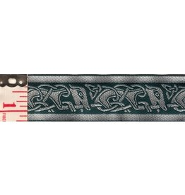 Cloak and Dagger Creations Celtic Running Dogs Trim, Green/Black