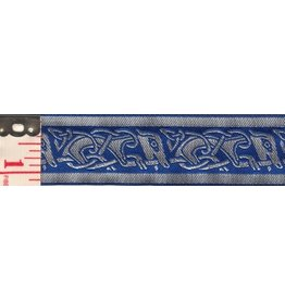 Cloak and Dagger Creations Celtic Running Dogs Trim, Silver-Grey/Blue