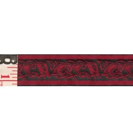 Cloak and Dagger Creations Celtic Running Dogs Trim, Red/Black