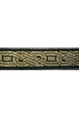 Cloak and Dagger Creations Celtic Knot, Twined Trim, Gold on Black