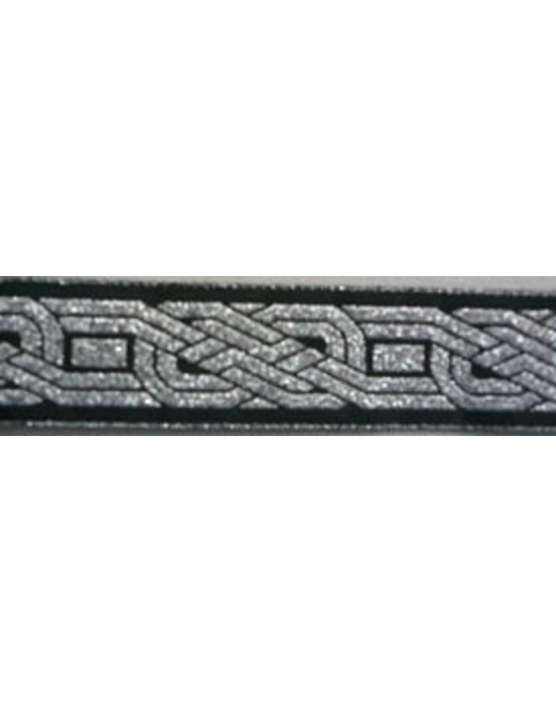 Cloak and Dagger Creations Celtic Knot, Twined Trim Silver on Black