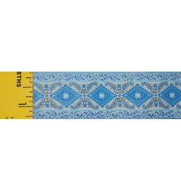 Diamonds Flourish Trim, Blue/Gold
