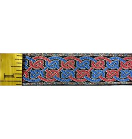 Cloak and Dagger Creations Double Celtic Knot Trim, Blue/Red/Gold