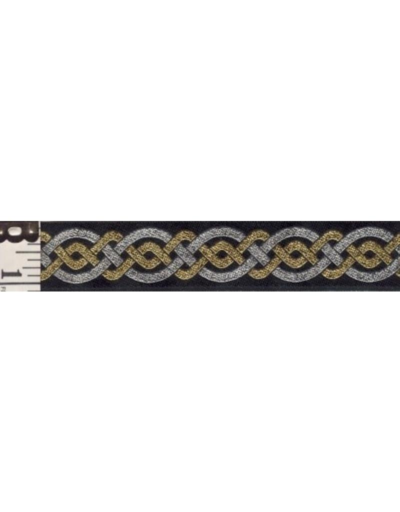Cloak and Dagger Creations Double Twist Celtic Knot Silver Outside w/Gold Inside