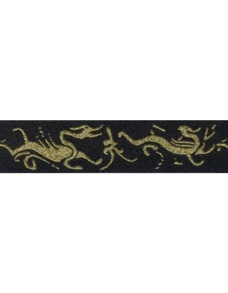 Cloak and Dagger Creations Dragon Trim, Gold on Black (reversible)