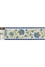 Cloak and Dagger Creations Elizabethan Floral Trim, Gold/Blue