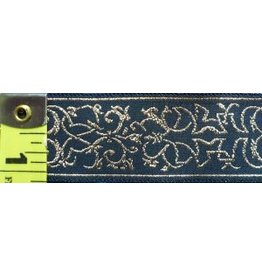 Cloak and Dagger Creations Elizabethan Swirls Trim, Gold on Black