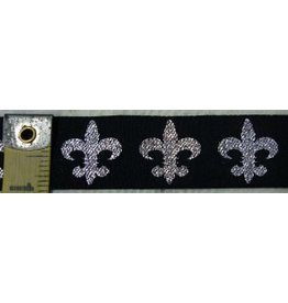 Cloak and Dagger Creations Fleur De Lis - Silver on Black