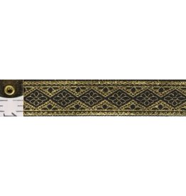 Cloak and Dagger Creations Floral Diamonds Trim, Gold/Black (Reversible!)