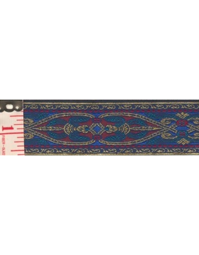 Cloak and Dagger Creations Florentine Trim, Gold/Blue/Red