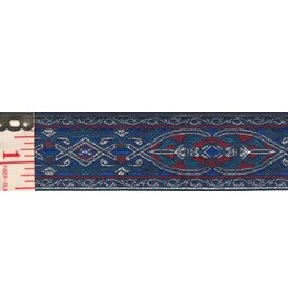 Cloak and Dagger Creations Florentine Trim, Silver Blue/Red