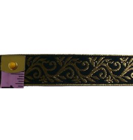 Cloak and Dagger Creations Formal Vine Trim, Gold on Black