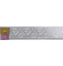 Formal Vine Trim, Silver on White