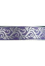 Cloak and Dagger Creations Formal Vine Trim, Silver on Purple