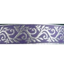 Formal Vine Trim, Silver on Purple