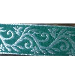 Formal Vine Trim, Silver on Green