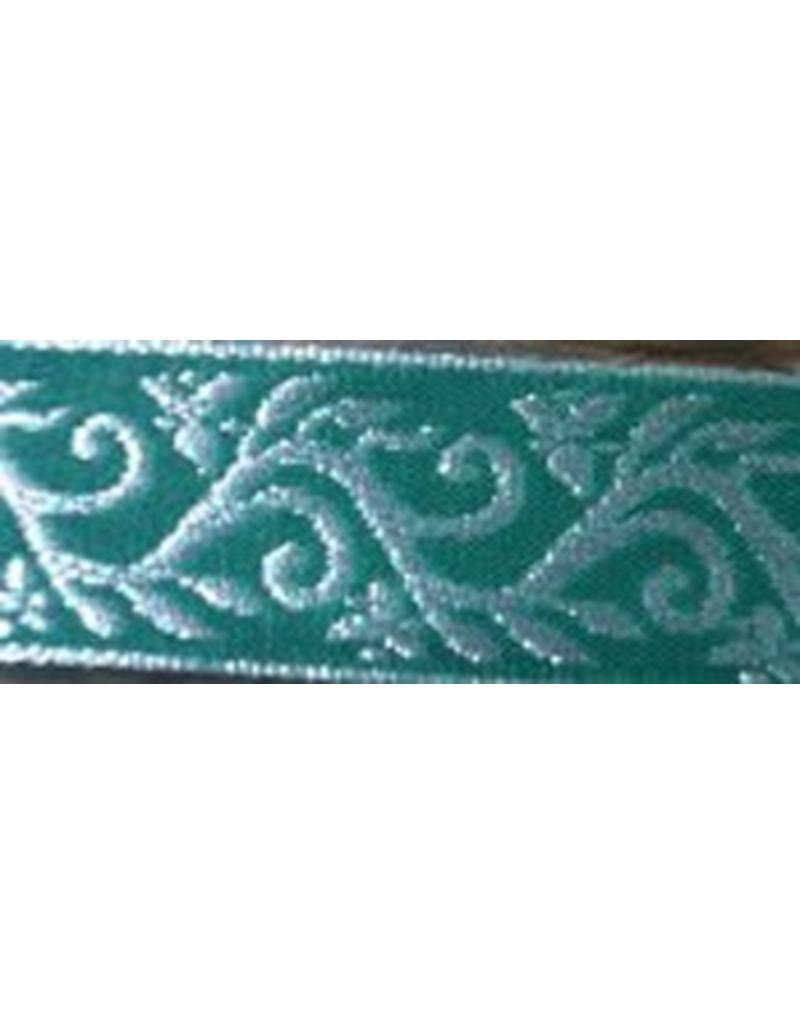 Cloak and Dagger Creations Formal Vine Trim, Silver on Green