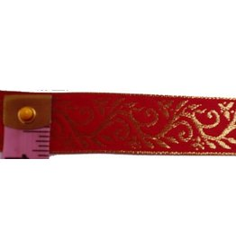 Cloak and Dagger Creations Formal Vine Trim, Gold on Red