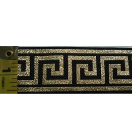 Cloak and Dagger Creations Greek Key Gold on Black - Wide
