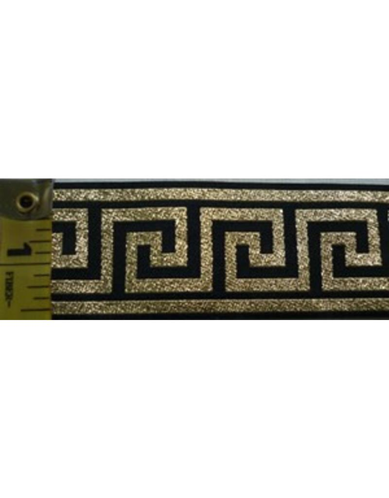 Cloak and Dagger Creations Greek Key Gold on Black - Wide
