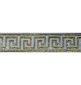 Greek Key Gold on Black - Wide