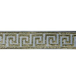 Cloak and Dagger Creations Greek Key Trim, Gold/White - Narrow