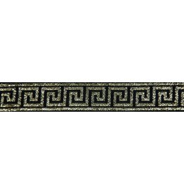 Cloak and Dagger Creations Greek Key Trim, Gold/Black - Narrow