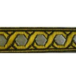 Cloak and Dagger Creations Hex Chain Trim, Gold/White
