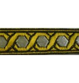 Hex Chain Trim, Gold/White