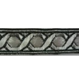 Cloak and Dagger Creations Hex Chain Trim, Silver/White