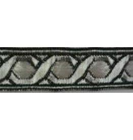 Hex Chain Trim, Silver/White