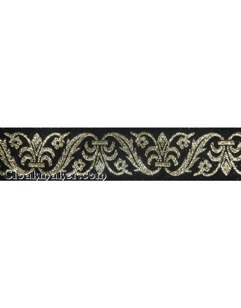 Cloak and Dagger Creations Leaf and Vase Trim, Black/Gold