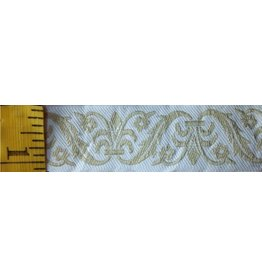 Leaf and Vase Trim, White/Beige