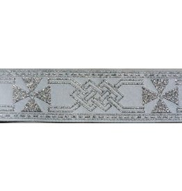 Maltese Cross Trim, Silver/White