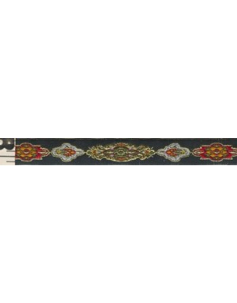 Cloak and Dagger Creations Medallion Trim, Gold/Red/Green - Narrow