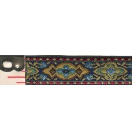 Cloak and Dagger Creations Medallion Trim, Multicolor on Black - Narrow