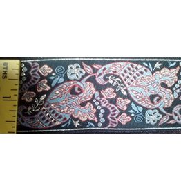 Cloak and Dagger Creations Paisley Fish Gold/Sage/Red/Black Trim
