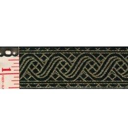 Cloak and Dagger Creations Ripple Knotwork Trim, Gold/Black (Reversible!)